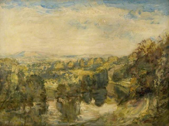 The River Teme, Evening near Ludlow – The Clee Hills in the Distance:  by Philip Wilson Steer ;Dundee Art Galleries and Museums Collection (Dundee City Council)